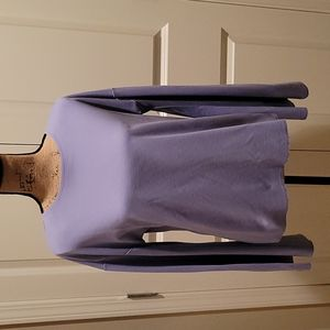 Topshop, worn once. Unique lavender top with bell sleeves and an open back